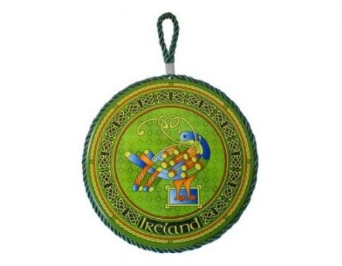 Celtic Peacock Wall Plaque Pot Holder